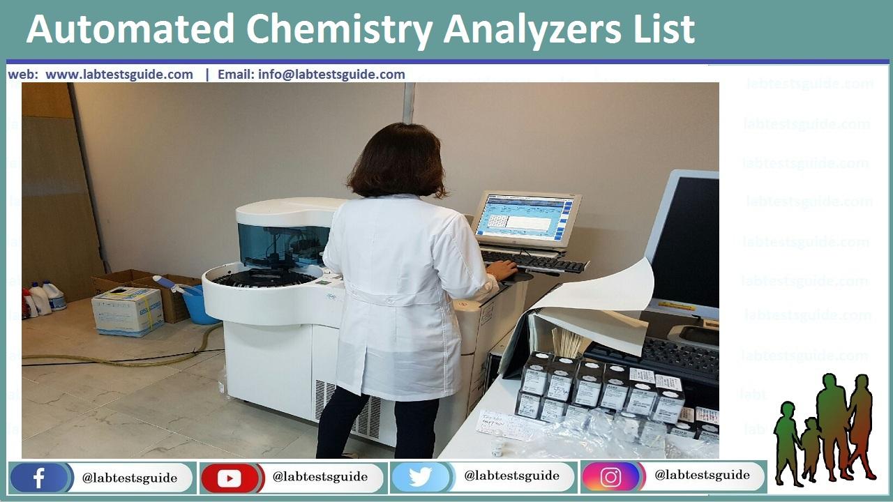 Automated Chemistry Analyzers
