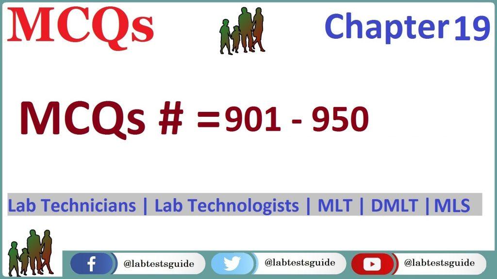 MCQs Chapter 19