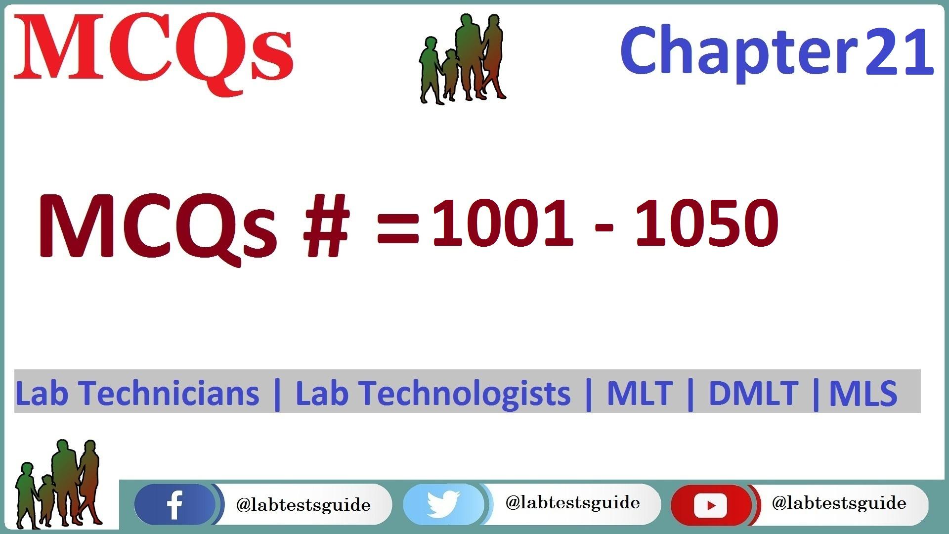 MLT MCQs 21